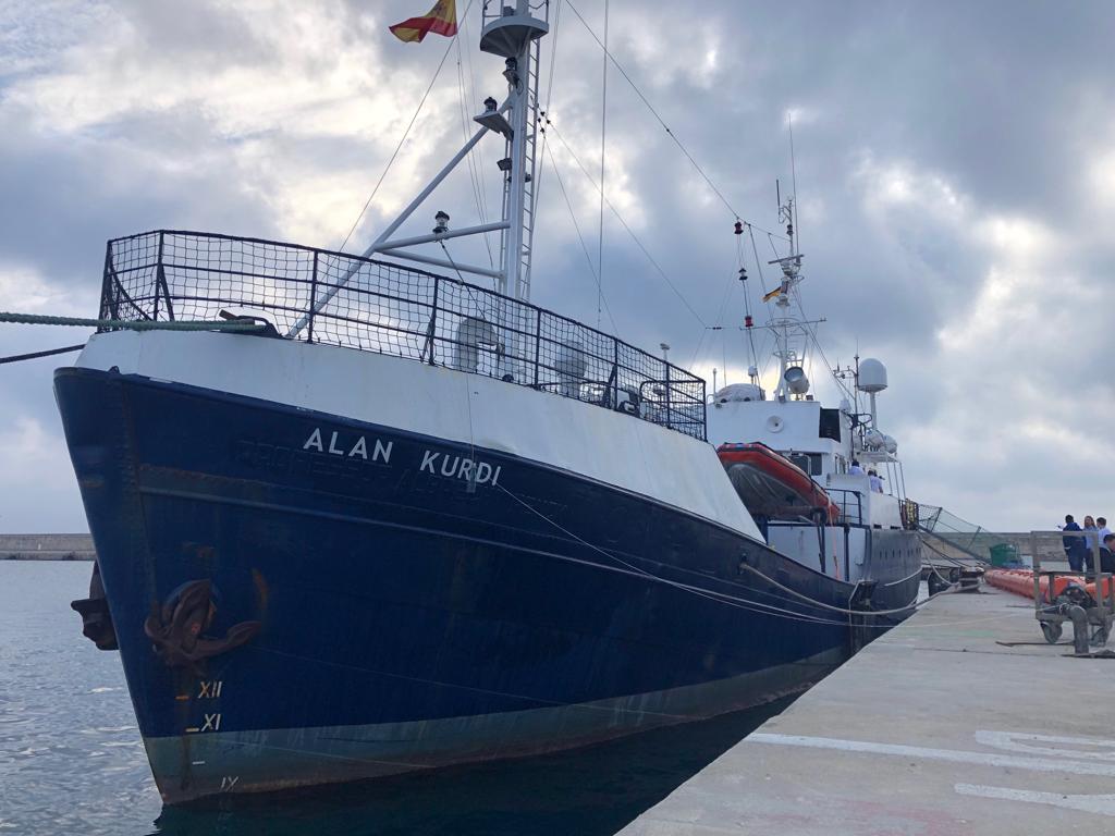 Barco de rescate Alan Kurdi